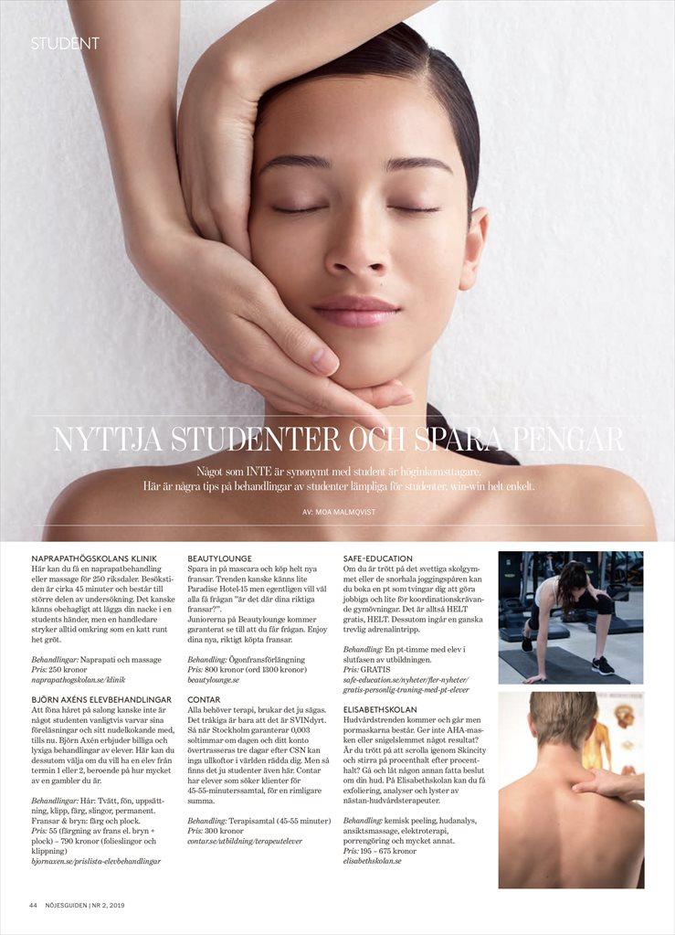elev massage stockholm